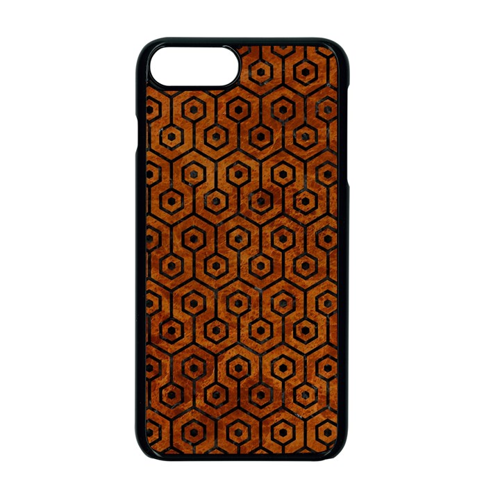 HEXAGON1 BLACK MARBLE & BROWN MARBLE (R) Apple iPhone 7 Plus Seamless Case (Black)