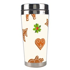 Cute Christmas Seamless Pattern  Stainless Steel Travel Tumblers by Onesevenart