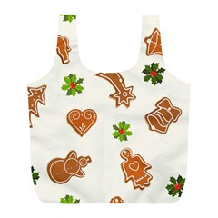Cute Christmas Seamless Pattern  Full Print Recycle Bags (l)