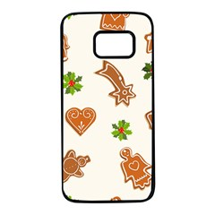 Cute Christmas Seamless Pattern  Samsung Galaxy S7 Black Seamless Case