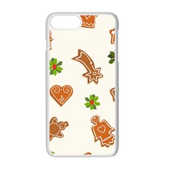 Cute Christmas Seamless Pattern  Apple iPhone 7 Plus White Seamless Case by Onesevenart