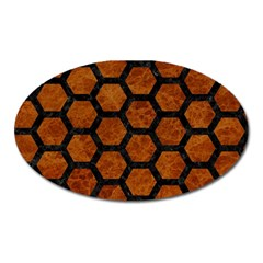 Hexagon2 Black Marble & Brown Marble (r) Magnet (oval) by trendistuff