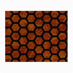 Hexagon2 Black Marble & Brown Marble (r) Small Glasses Cloth by trendistuff