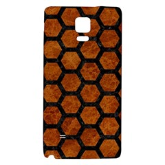Hexagon2 Black Marble & Brown Marble (r) Samsung Note 4 Hardshell Back Case by trendistuff