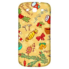 Cute Christmas Seamless Pattern Vector Samsung Galaxy S3 S Iii Classic Hardshell Back Case by Onesevenart