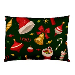 Cute Christmas Seamless Pattern Pillow Case by Onesevenart
