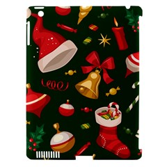 Cute Christmas Seamless Pattern Apple Ipad 3/4 Hardshell Case (compatible With Smart Cover) by Onesevenart