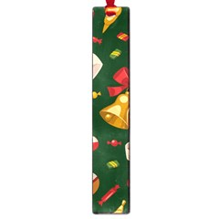 Cute Christmas Seamless Pattern Large Book Marks by Onesevenart