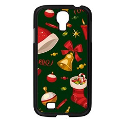 Cute Christmas Seamless Pattern Samsung Galaxy S4 I9500/ I9505 Case (black) by Onesevenart