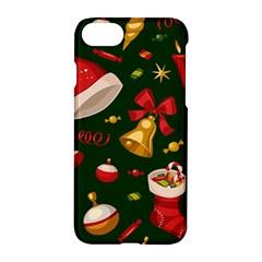 Cute Christmas Seamless Pattern Apple iPhone 7 Hardshell Case by Onesevenart
