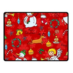 Cute Christmas Seamless Pattern Vector  Fleece Blanket (small) by Onesevenart