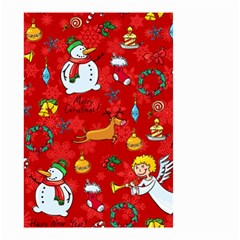 Cute Christmas Seamless Pattern Vector  Small Garden Flag (two Sides) by Onesevenart