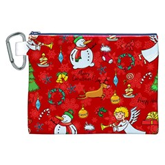 Cute Christmas Seamless Pattern Vector  Canvas Cosmetic Bag (xxl) by Onesevenart