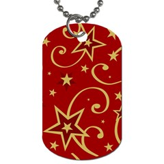 Elements Of Christmas Decorative Pattern Vector Dog Tag (One Side) by Onesevenart