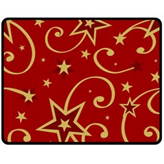 Elements Of Christmas Decorative Pattern Vector Fleece Blanket (medium)  by Onesevenart
