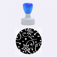 Elements Of Christmas Decorative Pattern Vector Rubber Round Stamps (medium) by Onesevenart