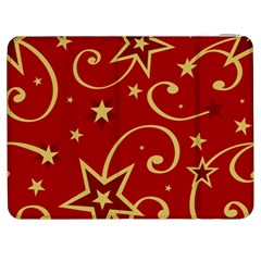 Elements Of Christmas Decorative Pattern Vector Samsung Galaxy Tab 7  P1000 Flip Case by Onesevenart