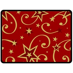 Elements Of Christmas Decorative Pattern Vector Double Sided Fleece Blanket (large)  by Onesevenart