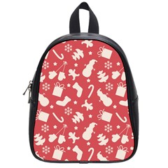 Pattern Christmas Elements Seamless Vector School Bags (small)  by Onesevenart