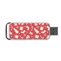Pattern Christmas Elements Seamless Vector Portable Usb Flash (two Sides) by Onesevenart