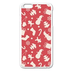 Pattern Christmas Elements Seamless Vector Apple Iphone 6 Plus/6s Plus Enamel White Case by Onesevenart