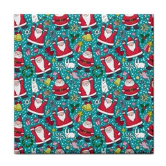 Cute Christmas Seamless Pattern Vector   Tile Coasters by Onesevenart
