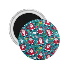 Cute Christmas Seamless Pattern Vector   2 25  Magnets by Onesevenart