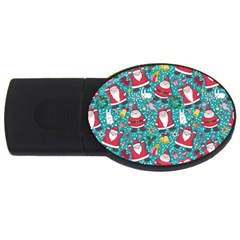 Cute Christmas Seamless Pattern Vector   Usb Flash Drive Oval (2 Gb)  by Onesevenart