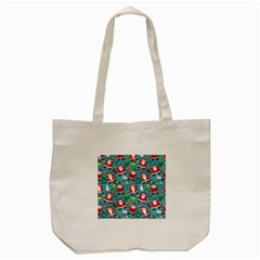 Cute Christmas Seamless Pattern Vector   Tote Bag (cream) by Onesevenart