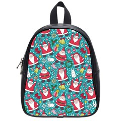 Cute Christmas Seamless Pattern Vector   School Bags (small)  by Onesevenart