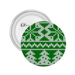 Knitted Fabric Christmas Pattern Vector 2.25  Buttons by Onesevenart