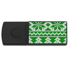 Knitted Fabric Christmas Pattern Vector Usb Flash Drive Rectangular (4 Gb)  by Onesevenart