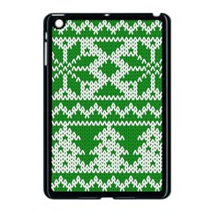Knitted Fabric Christmas Pattern Vector Apple Ipad Mini Case (black) by Onesevenart