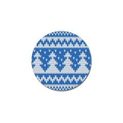 Knitted Fabric Christmas Pattern Vector Golf Ball Marker (10 Pack) by Onesevenart