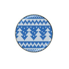 Knitted Fabric Christmas Pattern Vector Hat Clip Ball Marker (4 Pack) by Onesevenart
