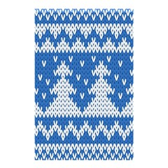 Knitted Fabric Christmas Pattern Vector Shower Curtain 48  X 72  (small)  by Onesevenart