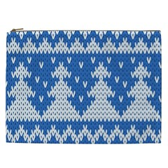 Knitted Fabric Christmas Pattern Vector Cosmetic Bag (xxl)  by Onesevenart