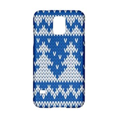 Knitted Fabric Christmas Pattern Vector Samsung Galaxy S5 Hardshell Case  by Onesevenart