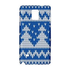 Knitted Fabric Christmas Pattern Vector Samsung Galaxy Note 4 Hardshell Case by Onesevenart