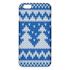 Knitted Fabric Christmas Pattern Vector Iphone 6 Plus/6s Plus Tpu Case by Onesevenart