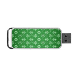 Snowflake Vector Pattern Portable Usb Flash (one Side) by Onesevenart