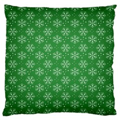 Snowflake Vector Pattern Large Flano Cushion Case (two Sides) by Onesevenart