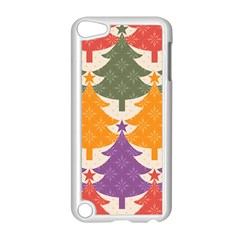 Tree Christmas Pattern Apple Ipod Touch 5 Case (white) by Onesevenart