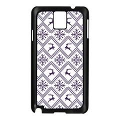 Simple Christmas Pattern Seamless Vectors  Samsung Galaxy Note 3 N9005 Case (black) by Onesevenart