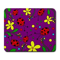 Ladybugs   Purple Large Mousepads by Valentinaart