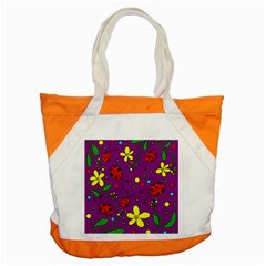 Ladybugs   Purple Accent Tote Bag by Valentinaart