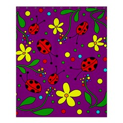 Ladybugs   Purple Shower Curtain 60  X 72  (medium)  by Valentinaart