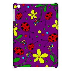 Ladybugs   Purple Apple Ipad Mini Hardshell Case by Valentinaart
