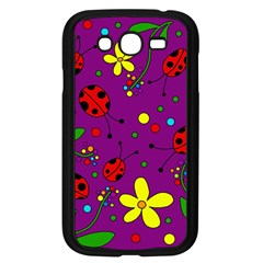 Ladybugs   Purple Samsung Galaxy Grand Duos I9082 Case (black) by Valentinaart