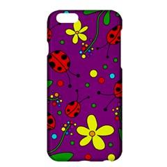 Ladybugs   Purple Apple Iphone 6 Plus/6s Plus Hardshell Case by Valentinaart
